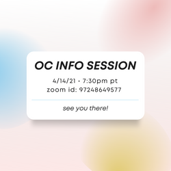 OC INFO SESSION