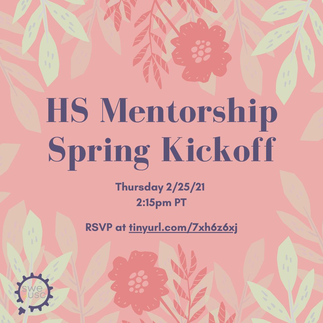 HS Mentorship kickoff IG Post