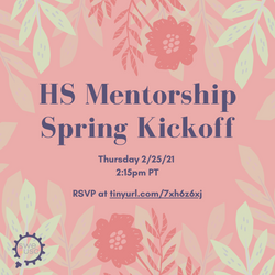 HS Mentorship kickoff IG Post