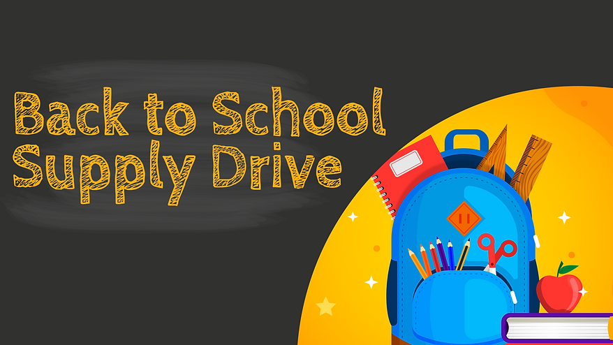 Web banner - Back to School Supply Drive
