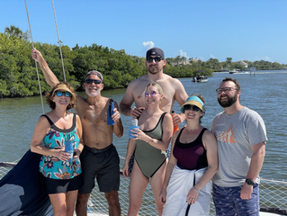 Swim Party 2021, Click on photos.app.goo...... link below for drone, boat & dolphin, video