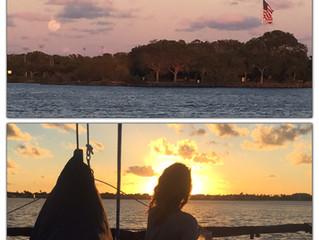 Moonrise Sunset Sail, April 2017