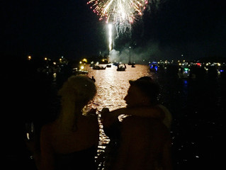 July 4th Fireworks Over The Water, July 2017