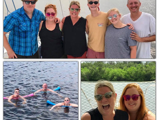 Family Swim Party & Sunset Sail, July 2018