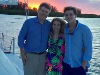 Family Sunset Sail Memories, July 2017
