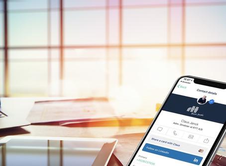 RTT går over til digitale visitkort