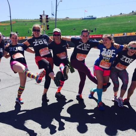 Bluenose Marathon!  Join Team ZOE!
