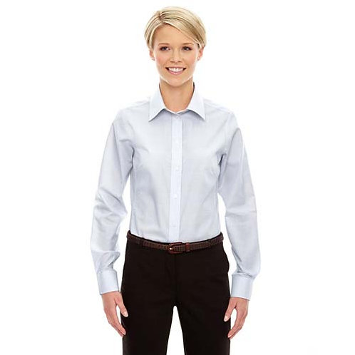 Women's Embroidered Oxford Tattersal Button Down