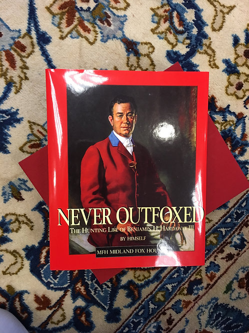 """Never Outfoxed"" by B. H. Hardaway, III Delux Leather Bound Book with Case"