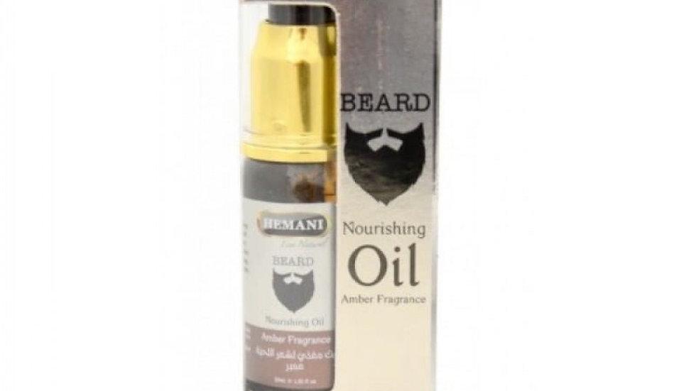Масло для ухода за бородой с ароматом амбры Hemani Beard Nourishing Oil 30 мл