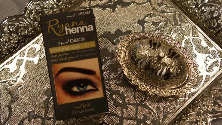 Хна для бровей Ryana henna ЧЕРНАЯ 15 мл
