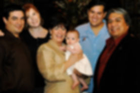 The Delgado Family photographed outside Las Casuelas Nuevas in Rancho Mirage