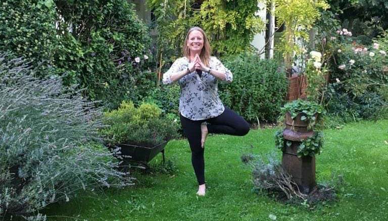 Wednesday morning yoga  Langtons Garden