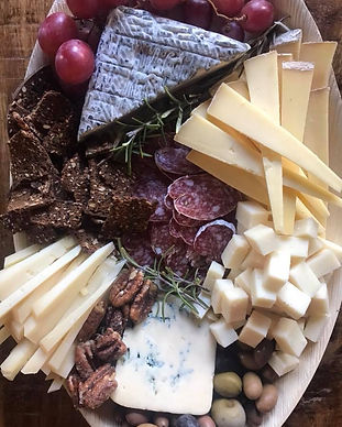 a cheese plate from landmark creamey