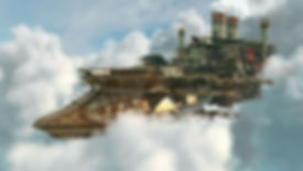 steampunk airship