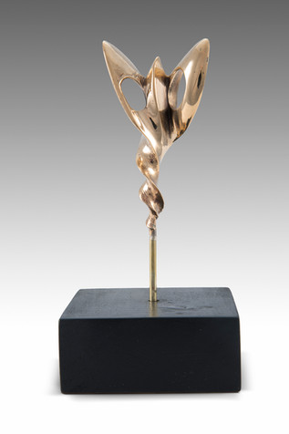 Butterfly, 2013, Bronze, black marble 6 x 6 x 19 cm