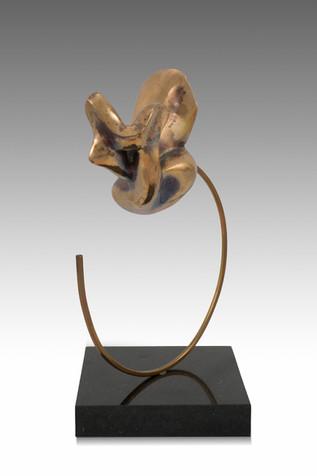 Freedom, 2013, Bronze, black marble 15 x 15 x 33 cm