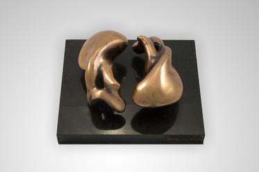 Perfect Harmony, 2015, Bronze, black marble 24 x 24 x 20 cm