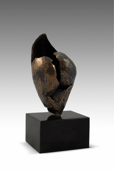 Untitled, 2010, Bronze, black marble