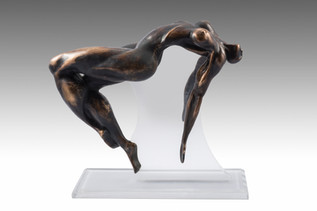 Here I am, 2013, Bronze 25 x 40 x 50 cm