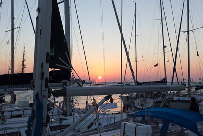 Barcolana sunset