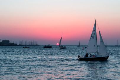 Trieste, sunset