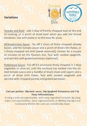 tomato sauce variations