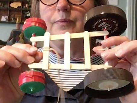 Wheelie Whitley: Make An Elastic Band Vehicle