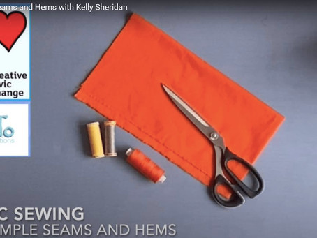 How to sew seams and hems