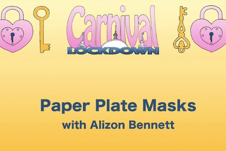 Create carnival bird masks from paper plates