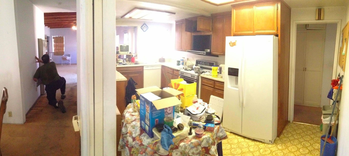 dated and neglected kitchen
