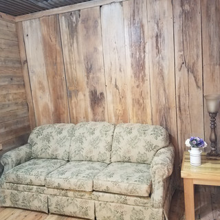 couch in bride's room