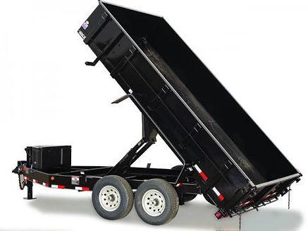large dump trailer