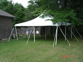 20x20 Rope and Pole Tent