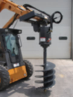 skid loader auger