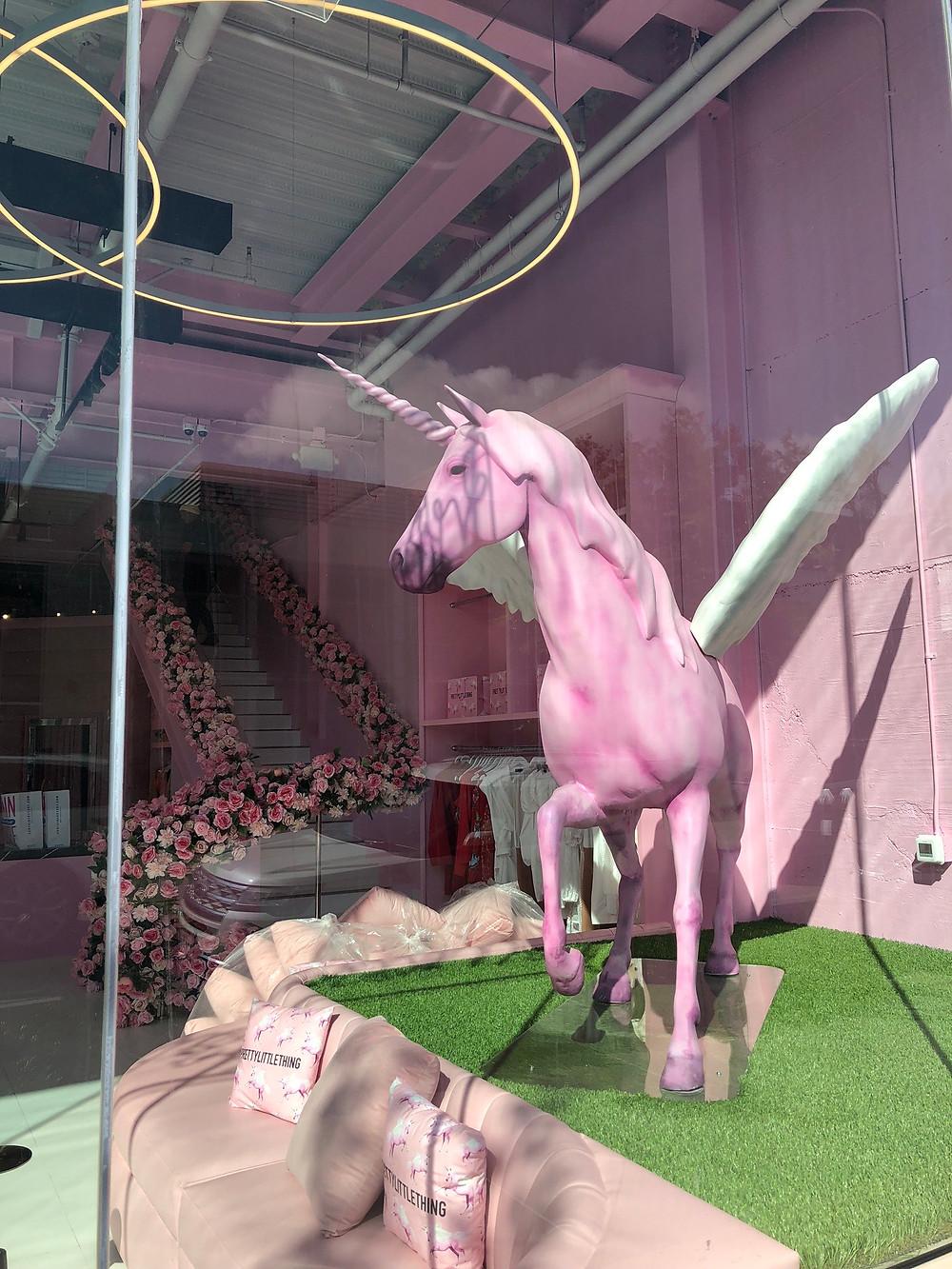 Pretty Little Things LA Melrose (Unicorn window)