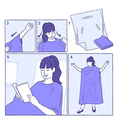 the wearable blanket illustration purple