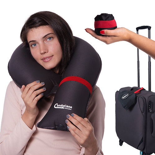 CandyCane Neck Inflatable Pillow