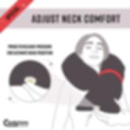adjust neck comfort candycane travel pillow