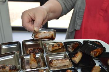 Sausage taste testing