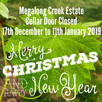 Megalong Creek Estate Christmas Closure