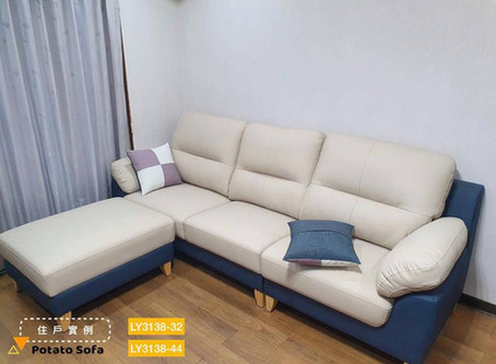 新北樹林_黃氏夫妻《POINT貓抓皮L型沙發》