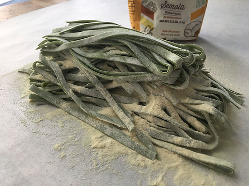 Rich Pasta Dough with Spinach