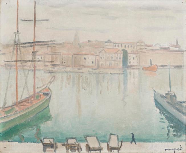 10 - Marquet Marseille le port, été 19