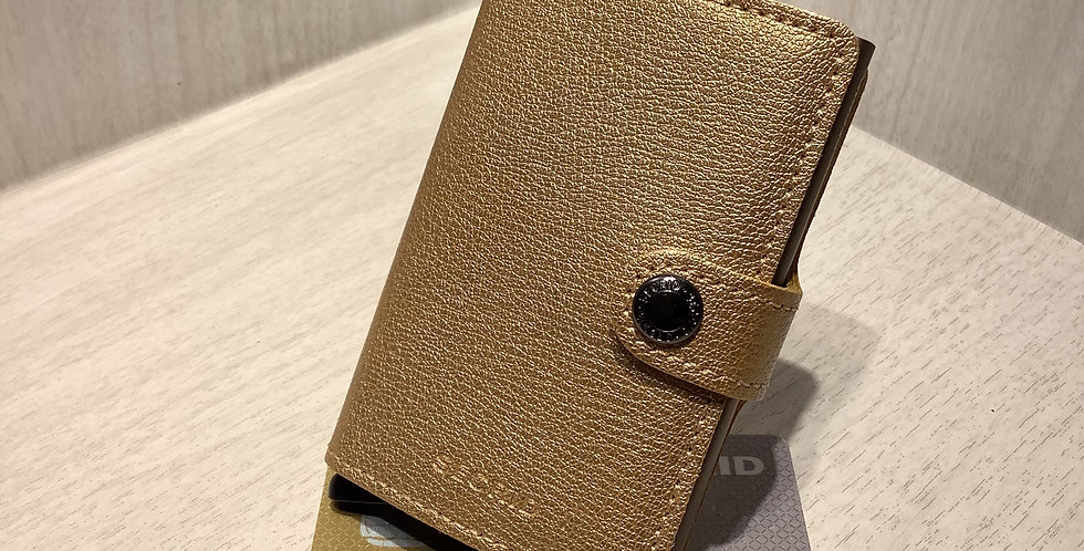 SECRID-miniwallet-Antique Gold