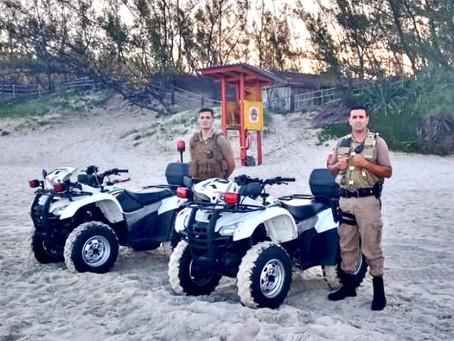 Polícia Militar de Garopaba presente na Barra