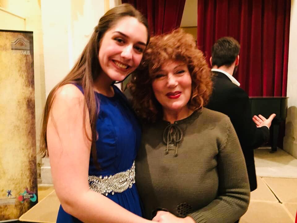 With the incredible Miriam Gauci after the concert.