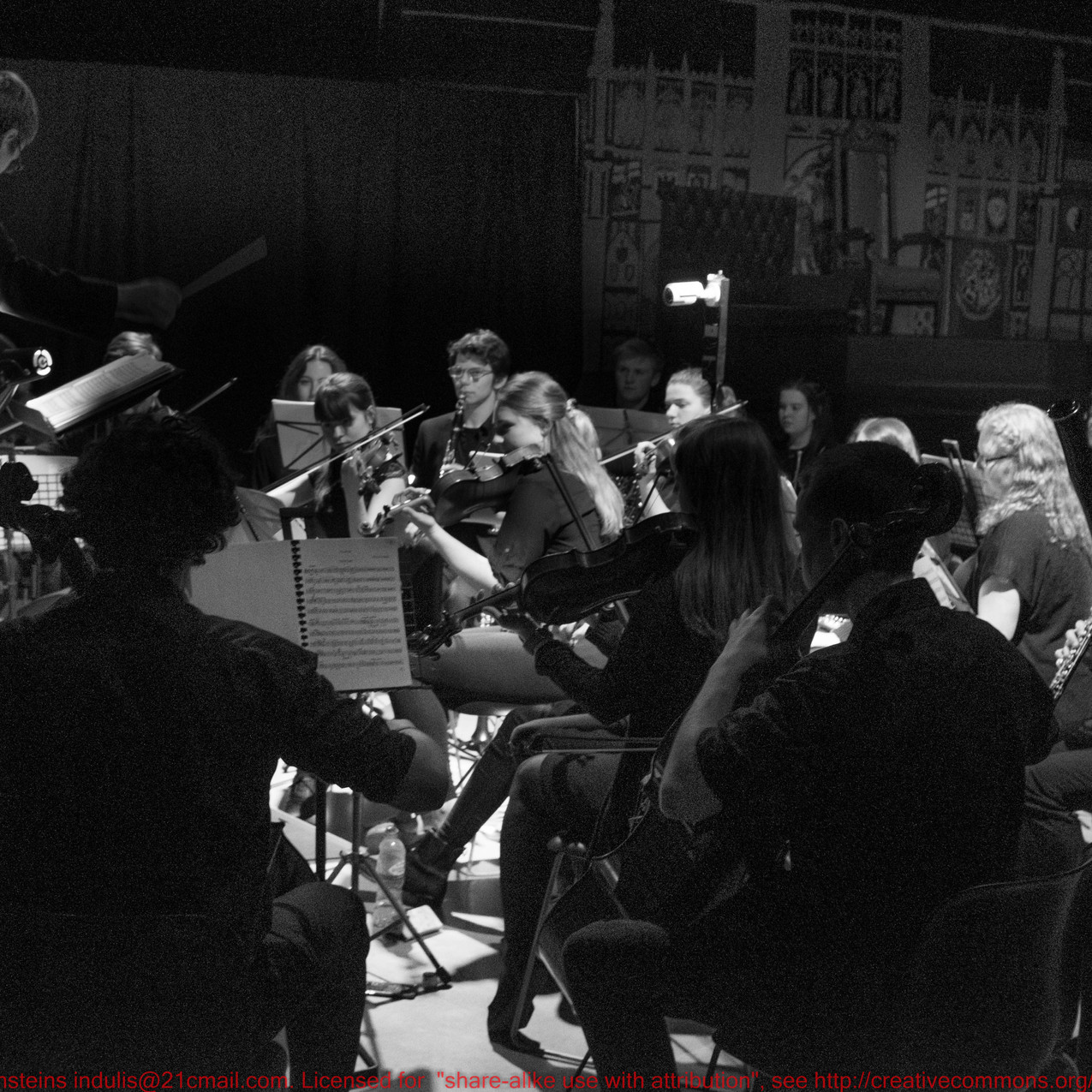 Orchestra conducted by Joe Hearson.