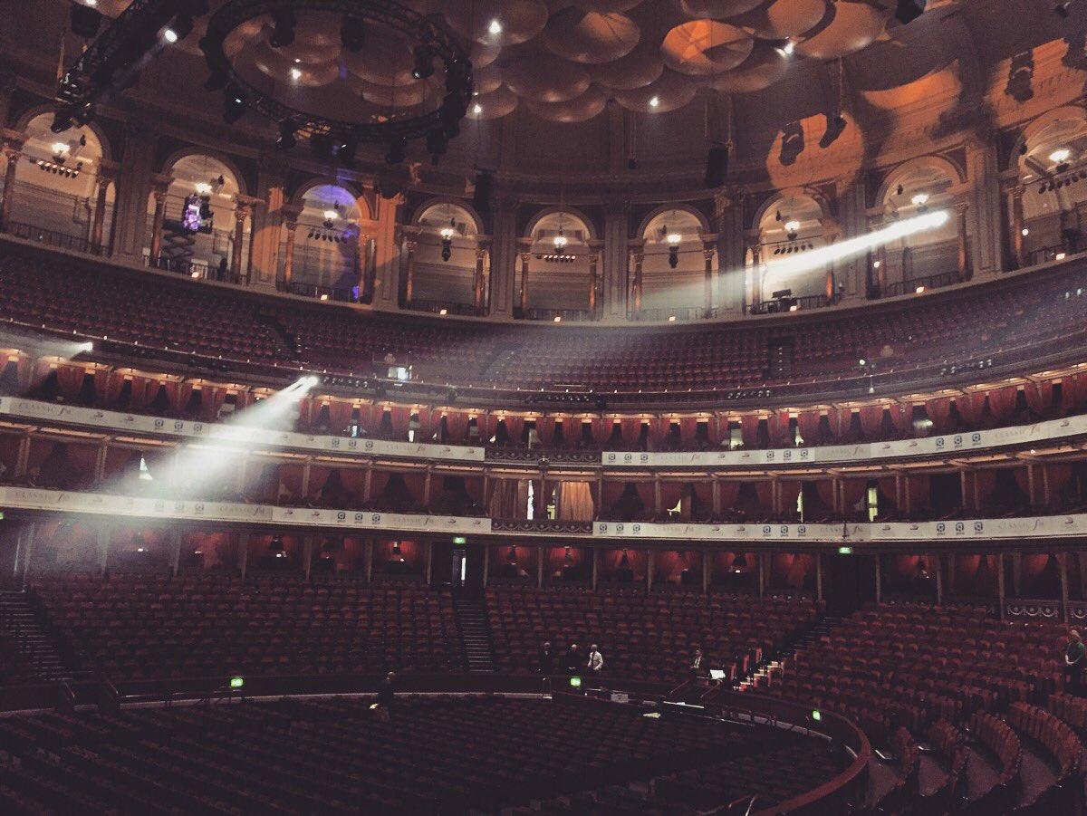 The Royal Albert Hall looking glorious.