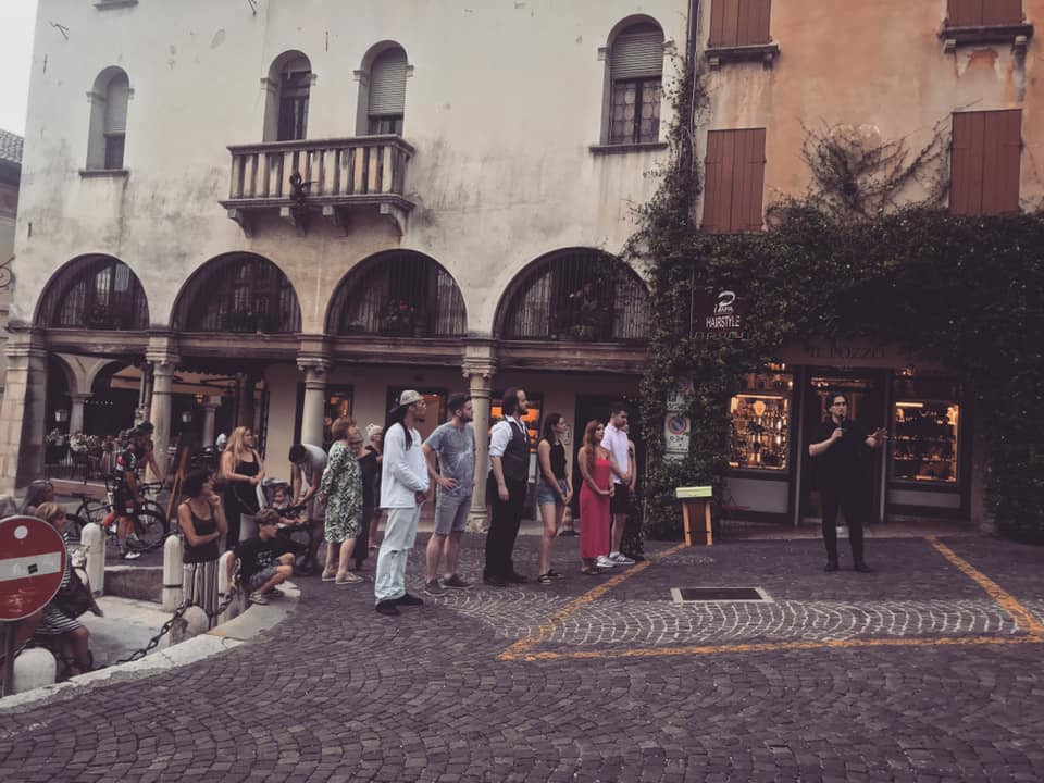 Pop-Up performance in Asolo.